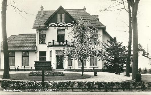 Openbare leeszaal Heemstede, 'De Meerlhorst', Van Merlenlaan 2: 1948-1976
