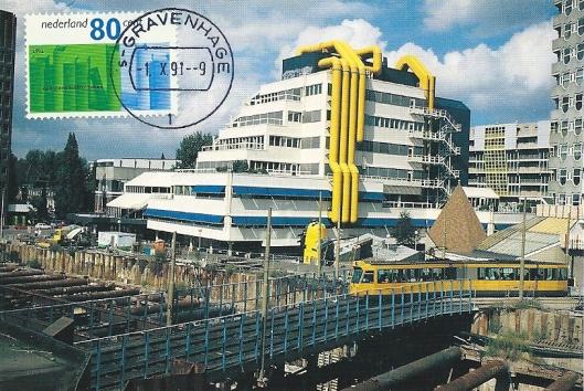 Centrale openbare bibliotheek Rotterdam, in 1983 tot stand gekomen onder architectuur van V.d.Broek en Bakema