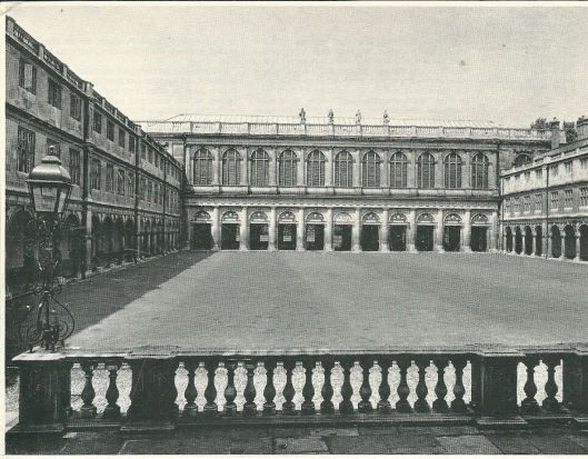 Trinity College Library in Cambridge, gebouwd door architect Wren, 1676-1695