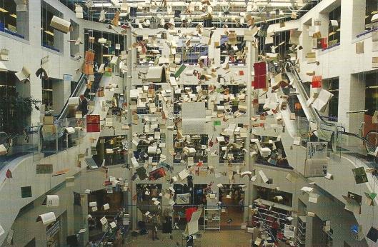'Flying Libraries' (2000) in Hoofdbibliotheek van Kopenhagen, Denemarken
