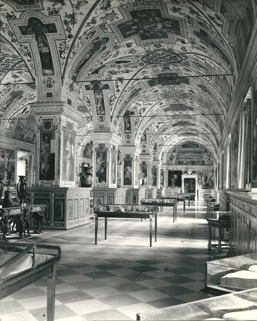 Bibliotheek gebouwd onder paus Sixtus V in het Vaticaans Museum