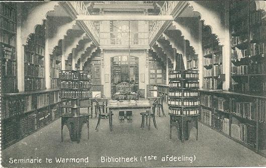 Grootseminarie Warmond; bibliotheek: 1e afdeling
