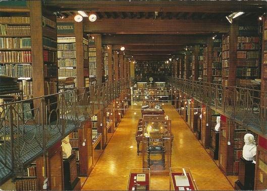 Nottebohmzaal in Erfgoedbibliotheek Hendrik Conscience, Antwerpen, België
