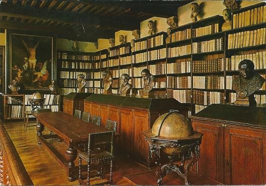 De grote bibliotheek in museum Plantijn-Moretus, Antwerpen