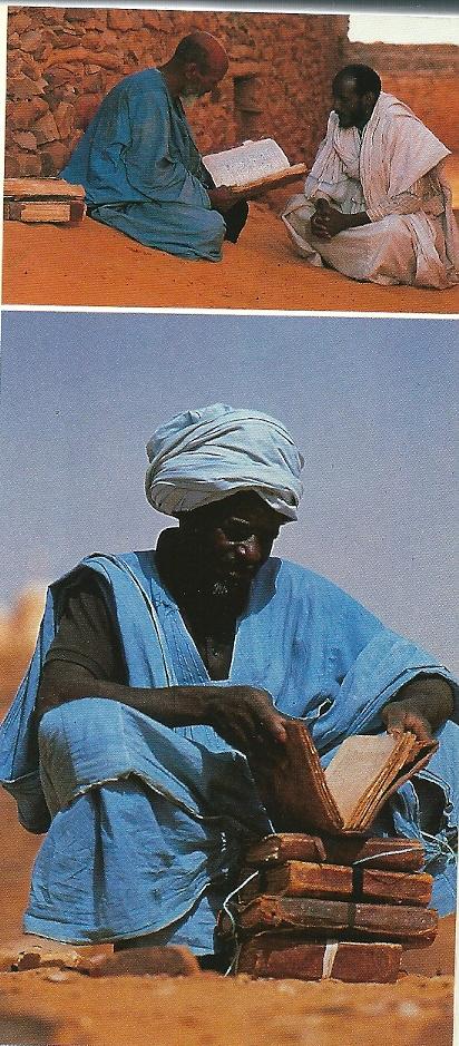 De Cinguetti bibliotheek in Mauretanië bevat heilige boeken van de Egyptische dichter Abd Allah Sahl uit het jaar 1087