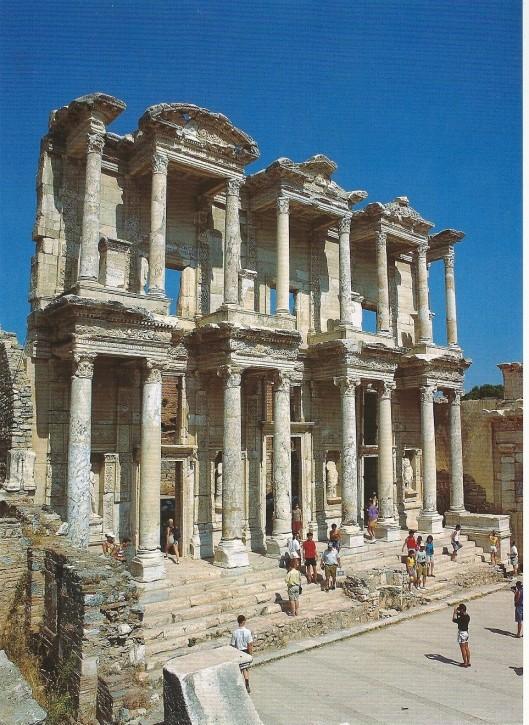 Bibliotheek van de Romein Celsus in Efese, Turkije