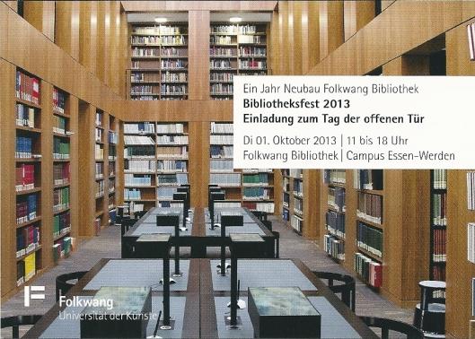 Folkwang Bibliothek, Universität der Kunste, Essen