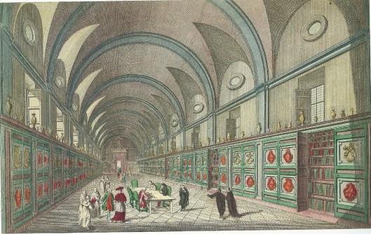 18e eeuwse gravure van de Vaticaanse bibliotheek