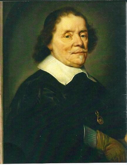 Portret van de Vlaamse humnanist en geleerde Daniel Heinsius (1580-1655) die naast o.a.hoogleraar in de dichtkunst en Grieks van 1607 tot 1655 bibliothecaris was van de Leidse Academie