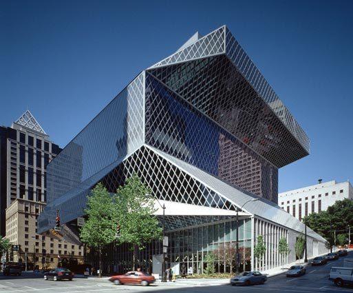 Public Library Seattle, naar een ontwerp van Rem Koolhaas