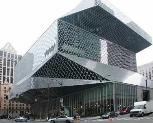 Seattle Public Library, gebouwd onder architectuur van Rem Koolhaas (OMA), 2009