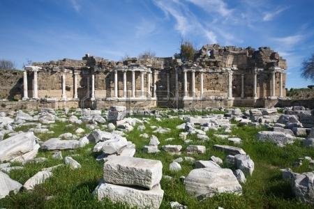 Klassieke bibliotheek van Side, Turkije