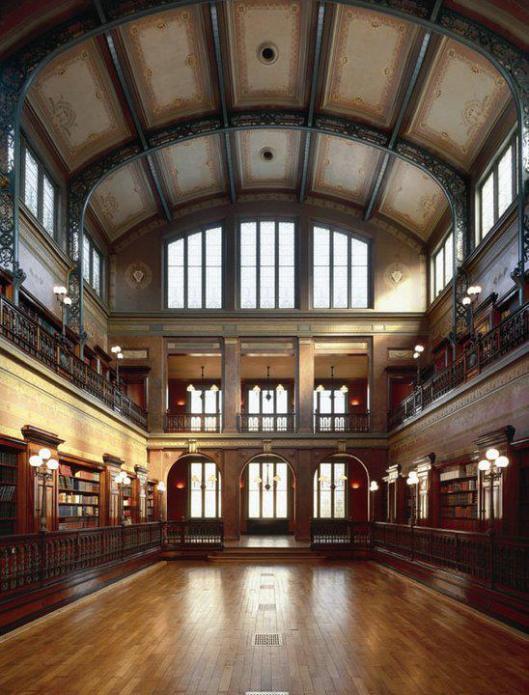 Interieur Bibliothèque Solvay, Brussel