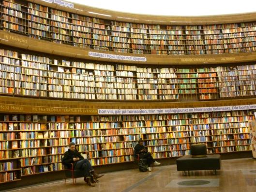 Interieur openbare bibliotheek Stockholm