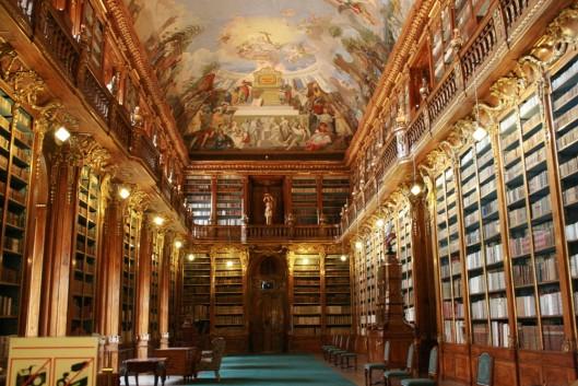 Strahov bibliotheek in Praag, Tsjechië: de filosofische zaal