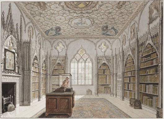 Strawberry Hill Library (John Carter Delt, 1784)
