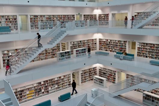 Interieur stadsbibliotheek Stuttgart