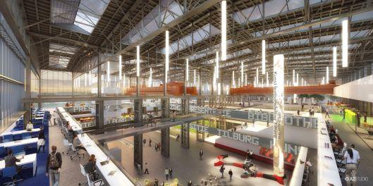 Ontwerp bibliotheek nieuwe stijl Tilburg, door Ector Hoogstad Architects