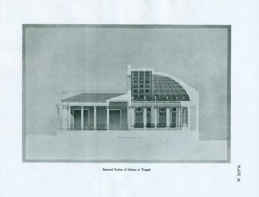 Reconstructie bibliotheek van Timgad