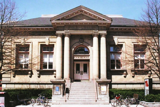 Typisch voorbeeld van een Carnegie public library, in dit geval van Yorkville, Toronto (Canada)