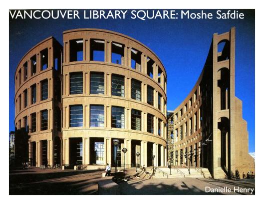Bibliotheek in de vorm van een coloseum in Vancouver