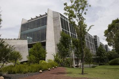 Exterieur Biblioteca Vasconcelos, openbare bibliotheek in Mexico-stad