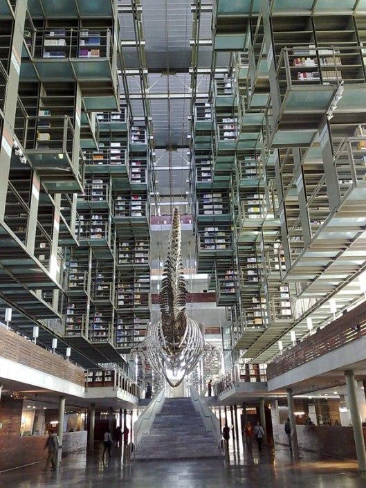 Biblioteca Vasconcelos (voormalig centraal station) in Mexico-stad
