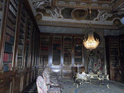 Bibliotheek in het kasteel Vaux le Vicomte in Maincy, Frankrijk