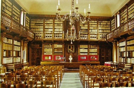 Interieurfoto van Biblioteca Capitulare in Verona