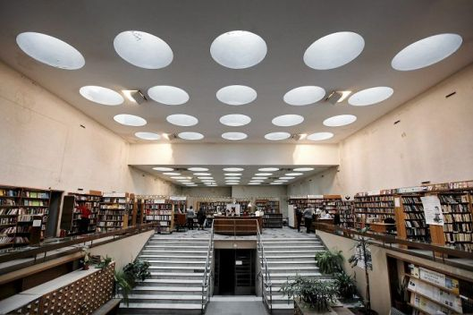 Viipuri openbare bibliotheek, ontworpen door Alvar Aalto