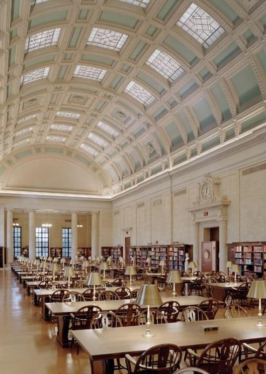 Widener Library, Harvard University, Cambrigde, Massachusetts (Improbables Libraries, Improbables Bibliothèques)
