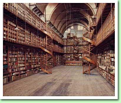 Vm. kloosterbibliotheek der paters Redemptoristen in Wittem, Zuid-Limburg