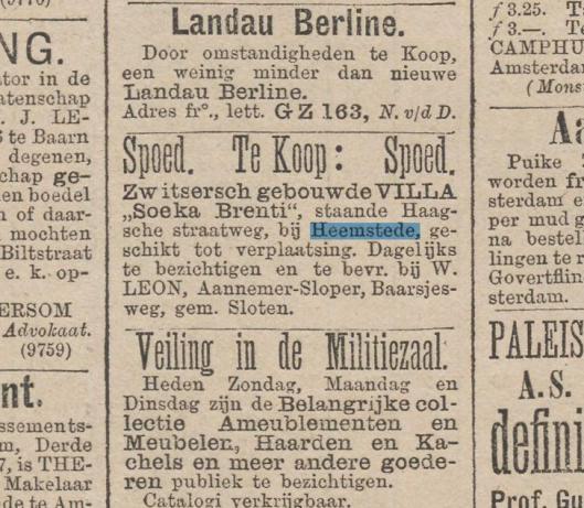Advertentie uit Kleine Courant: het nieuws van den dag, 10 oktober 1887