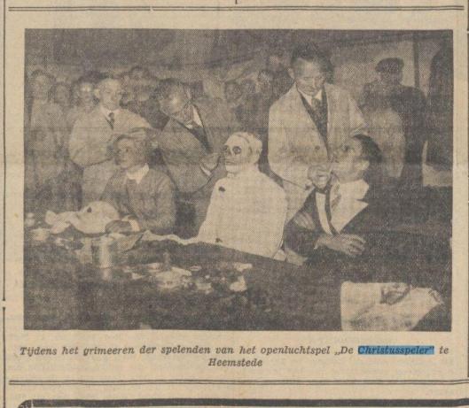 Illustratie uit dagblad De Tijd in een artikel over spel 'de Christusspeler' van 12 september 1937