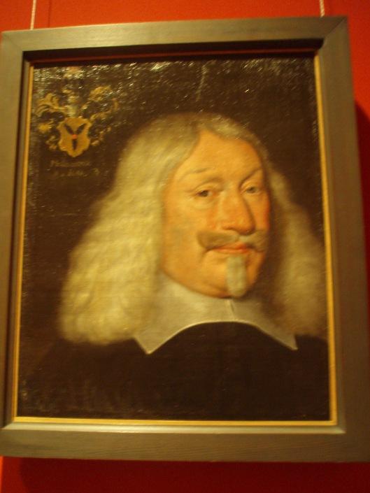 Portret van domdeken en geleerde Bernhard von Mallinckrodt in het Stadsmuseum van Münster. Adriaen Pauw had in Münster veel contact met hem en leende een exemplaar van het zeldzame boek 'Speculum humanae salutis' uit zijn Bibliotheca Heemstediana' aan Mallinckrodt