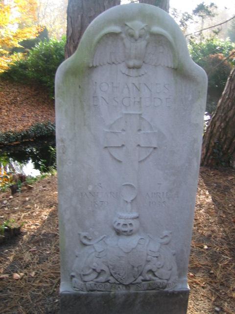 Graf Johannes Enschede, 9-4-1938 begraven