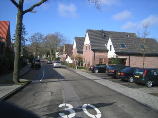de Prinsenlaan vanaf de Glipperweg richting Herenweg