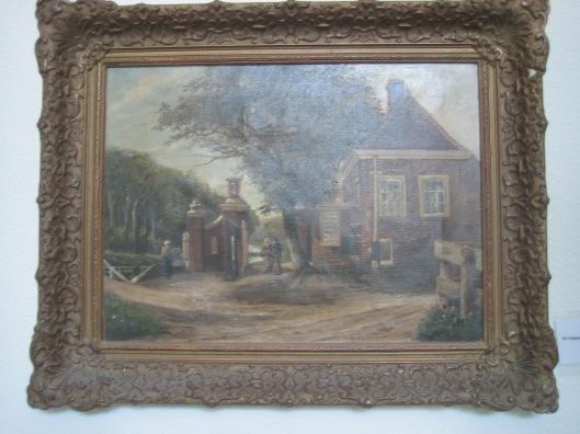 Schilderij van tolhuis en tolpoort Heemstede uit 1897 (gemeente Heemstede)