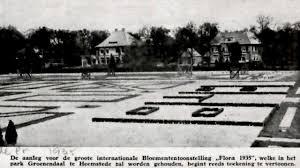 Aanleg van Flora 1935 met villa's aan de van Merlenlaan op de achtergrond
