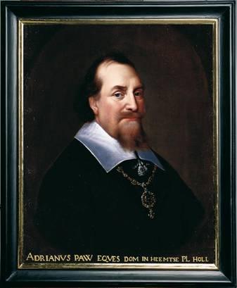 Portret van Adriaen Pauw in Vredeszaal, stadhuis Münster