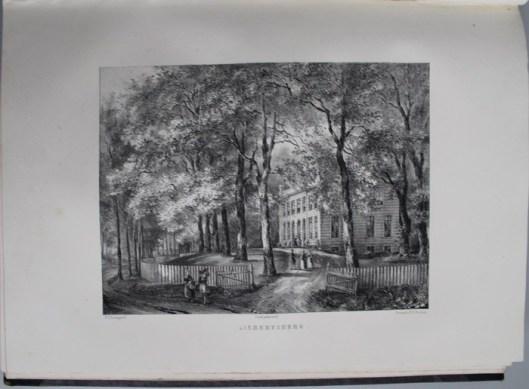 Het huis Aelbertsberg. Omstreeks 1840 toebehorend aan jhr. J.P.Teding van Berkhout, die het verfraaide (P.J.Lutgers)