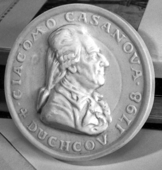 Medaillon van Casanova verkrijgbaar in Duckcov, Tsjechië