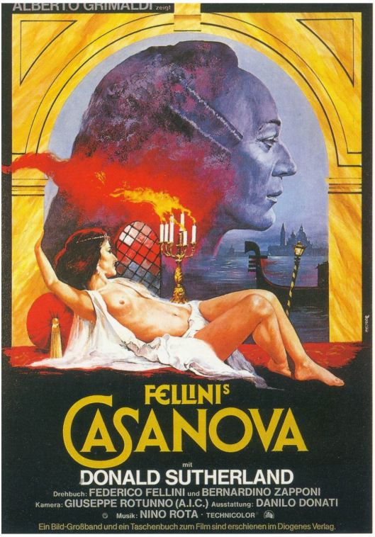 Affiche van film Casanova door Fellini