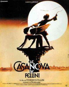 Nog een affiche voor film Casanova van Fellini