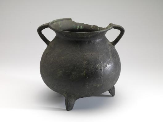 Kookpot uit de periode 1300-1400 gevonden in Heemstede (museum Boymans van Beuningen)