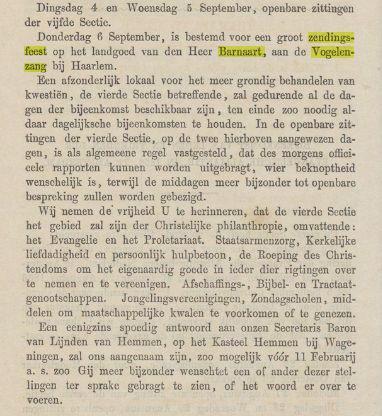 Over het nationaal christelijk zendingsfeest in Vogelenzang Uit: Stemmen van waarheid en vrede, 167