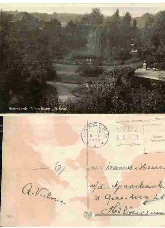 De tuin van huize Sint Bavo in 1938