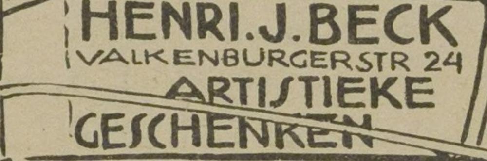 Adv. van Henri J.Beck uit de Eerste Heemsteedse Courant van 1929. Later werkte en woonde hij op het adres Landzichtlaan 41 in Heemstede