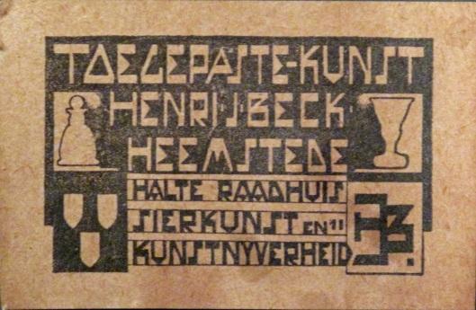 Reclame van Henri J.Beck uit Heemstede