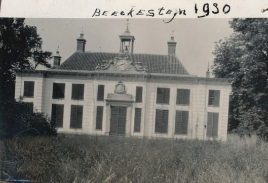 Voorgevel van Beeckestijn, Velsen, in 1930